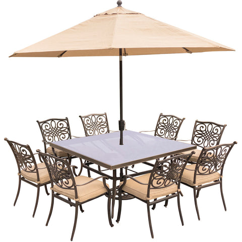 hanover-traditions-9-piece-8-dining-chairs-60-inch-square-glass-top-table-umbrella-base-traddn9pcsqg-su
