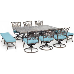 hanover-traditions-9-piece-6-swivel-rockers-2-backless-bench-chairs-60x84-inch-cast-table-traddn9pcsw6bn-blu