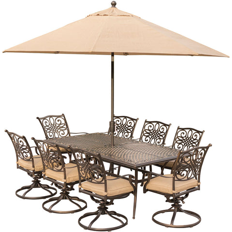 hanover-traditions-9-piece-8-swivel-rockers-42x84-inch-cast-table-umbrella-base-traddn9pcsw8-su