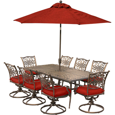 hanover-traditions-9-piece-8-swivel-rockers-42x84-inch-cast-table-umbrella-base-traddn9pcsw8-su-r