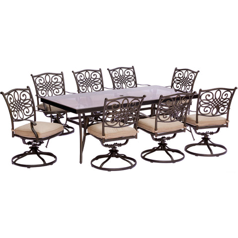 hanover-traditions-9-piece-8-swivel-rockers-42x84-inch-glass-top-table-traddn9pcswg