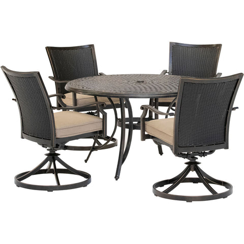 hanover-traditions-5-piece-4-wicker-back-swivel-rockers-48-inch-round-cast-table-traddnwb5pcswc-tan