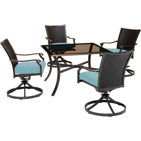 hanover-traditions-5-piece-4-wicker-back-swivel-rockers-42-inch-square-glass-table-traddnwb5pcswsqg-blu