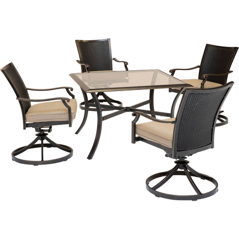 hanover-traditions-5-piece-4-wicker-back-swivel-rockers-42-inch-square-glass-table-traddnwb5pcswsqg-tan