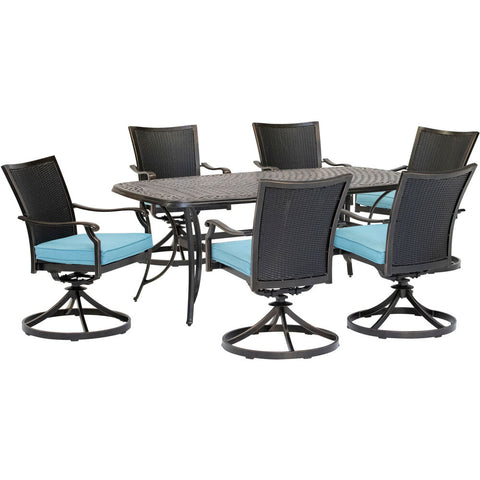 hanover-traditions-7-piece-6-wicker-back-swivel-rockers-38x72-inch-cast-table-traddnwb7pcswc-blu