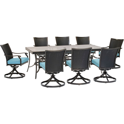 hanover-traditions-9-piece-8-wicker-back-swivel-rockers-42x84-inch-glass-table-traddnwb9pcswg-blu