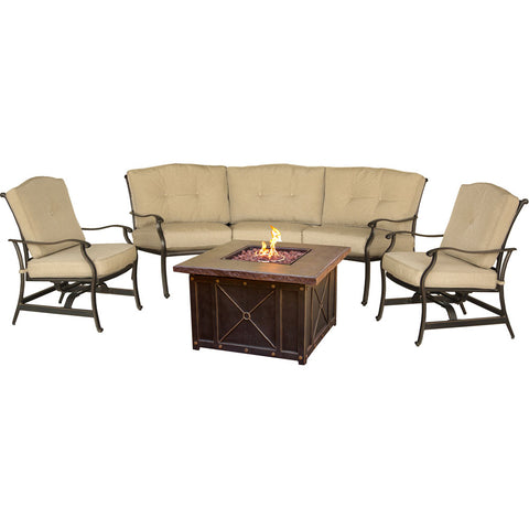hanover-traditions-4-piece-fire-pit-durastone-fire-pit-2-cushion-rockers-crescent-sofa-traddura4pcfp