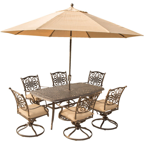 hanover-traditions-7-piece-6-swivel-rockers-38x72-inch-cast-table-umbrella-base-traditions7pcsw6-su