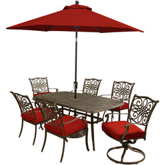 hanover-traditions-7-piece-4-dining-chairs-2-swivel-rockers-38x72-inch-cast-table-umbrella-base-traditions7pcsw-su-r