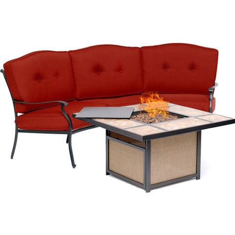 hanover-traditions-2-piece-fire-pit-tile-top-fire-pit-crescent-sofa-tradtile2pcfp-red