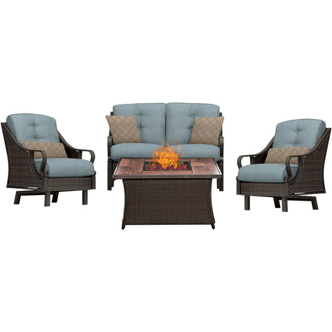 hanover-ventura-4-piece-fire-pit-set-with-wood-grain-tile-top-ven4pcfp-blu-wg