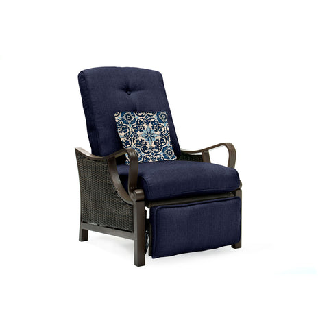 hanover-ventura-luxury-recliner-with-pillow-accessory-all-weather-resin-weave-venturarec-nvy