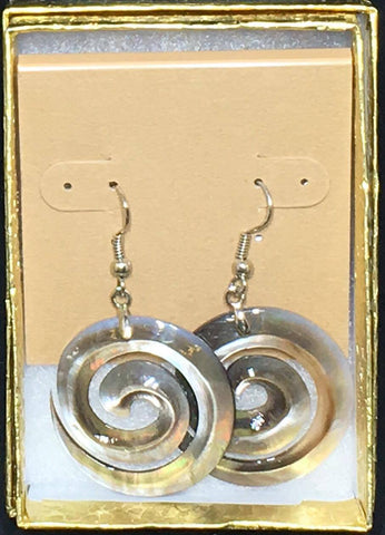 MOP Swirl Earrings