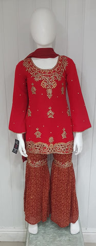 Girls Gharara suit D.NO. 0101