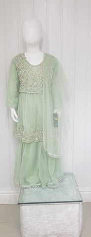 Light Green  Gharara Girls Outfit