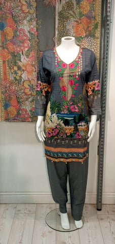 Casual Lawn Printed Ladies Suit 10421/4