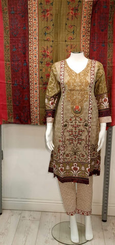 Casual Lawn Printed Ladies Frock Suit 10421/7