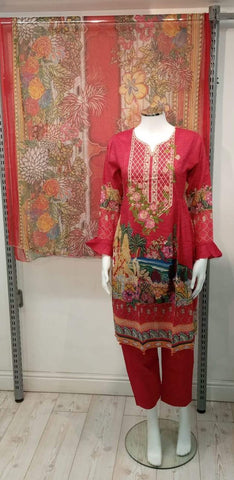 Casual Lawn Printed Ladies Frock Suit 10421/8