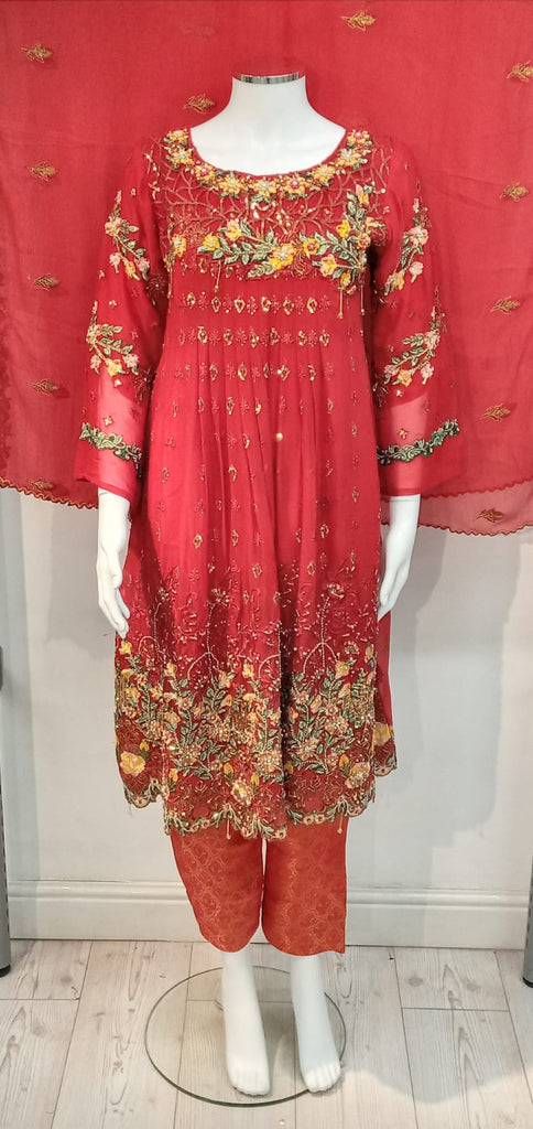 Maryam Fine Georgette Ladies Suit D.NO 18321