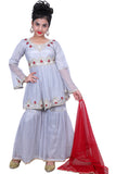 Beautiful Gray Girls Gharara Suit #