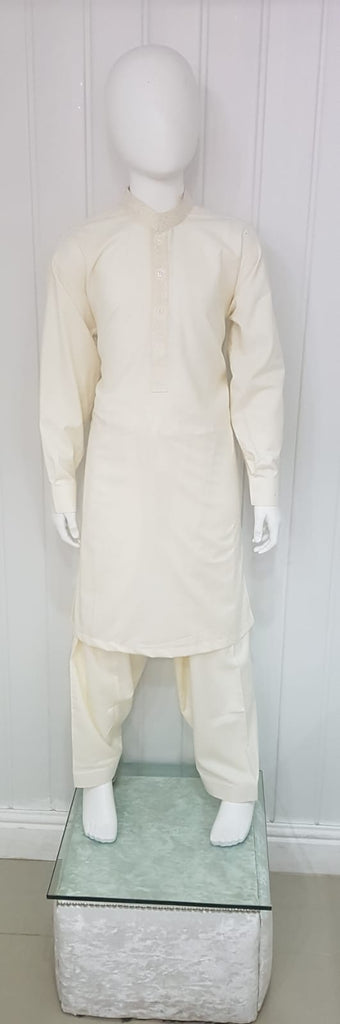 Plain cream boys salwar kameez  ideal for every day wear