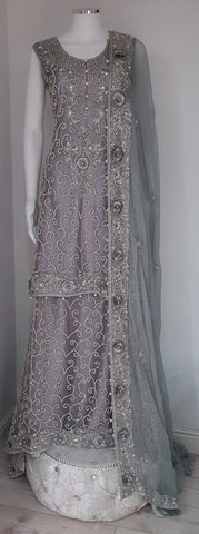 Grey Wedding Langha
