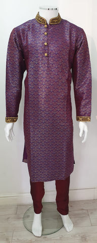 Men,s  Brocade Kurth Pajama  in purple D.NO.130
