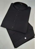 Men's Plain Black Casual Pakistani Salwar Kameez