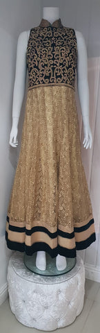 Gold & Purple Ladies Dress