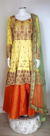 A beautiful ladies mandi suit