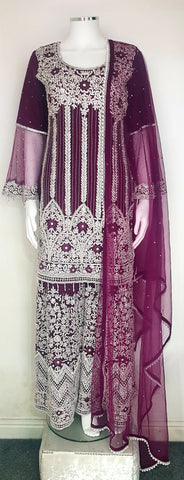 ladies party wear sharara suit
