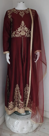 Maroon Ladies Dress