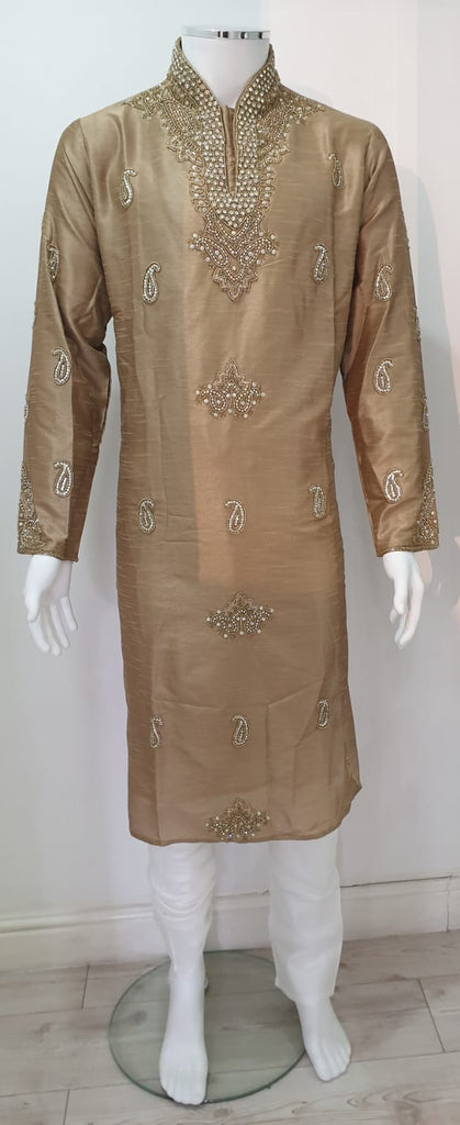 Men,s heavy stone embroidered kurta pyjama