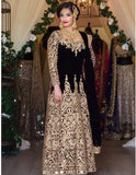 Heavy Gold Embroidery Unstitched Dress