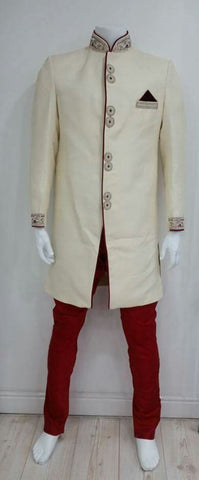 Cream Indo Western Outfit