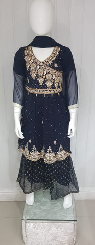 Girls Navy blue gharara