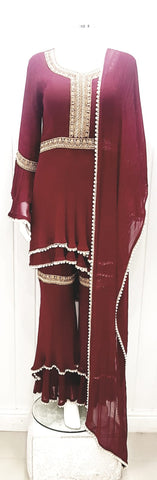 Ladies designer inspired party wear sharara suit !!!!