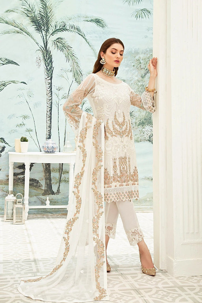 A Readymade Ramsha Collection Embroidered Chiffon Front With Sequins F-1910