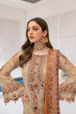 Ramsha Collection Embroidered Chiffon Front With Sequins M-305