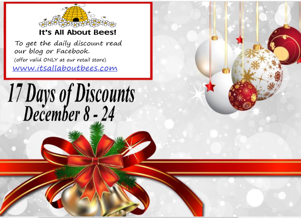 17 Days of Discounts! EXPIRED 12/7/18