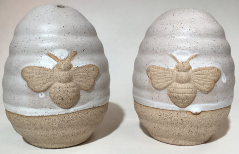 Kitchen Salt & Pepper Shakers Bees Pottery