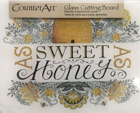Kitchen Cutting Board As Sweet As Honey Glass