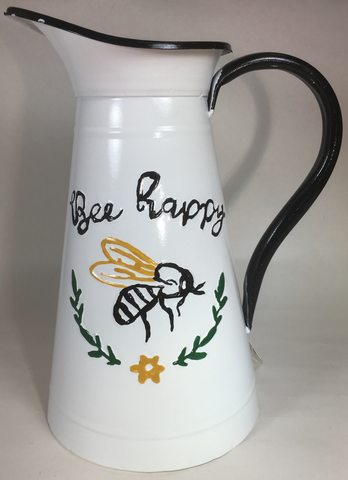Decor Pitcher Bee Happy