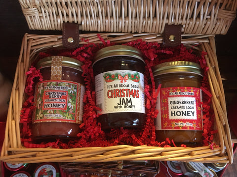 Picnic Baskets - 2qty 10oz Creamed Honey and 1qty 8oz Jam