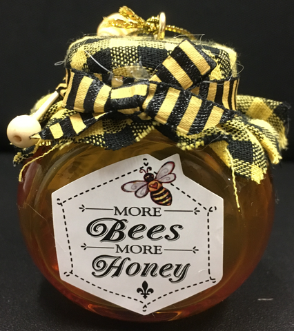 Ornament Honey Pot Glass with Dipper