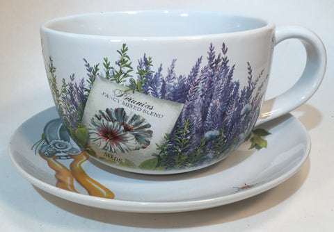 Decor Plant Pot Ceramic Cup & Saucer