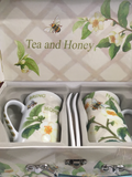 Cup Tea and Honey Design 2 mug set with spoons
