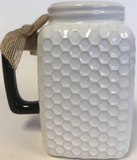Cup Mug White Honeycomb Queen Bee