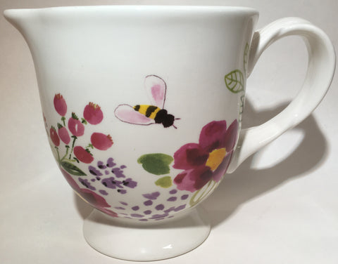 Kitchen Flowers & Bee Measuring Pitcher Ceramic