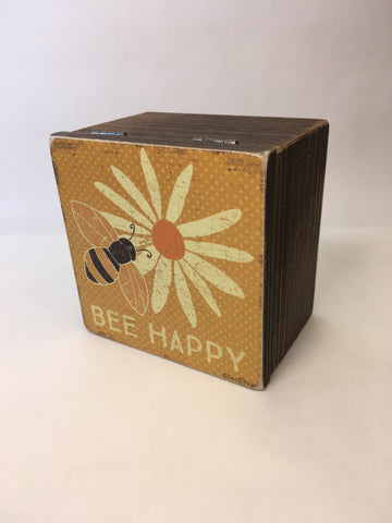 Hinged Box - Bee Happy